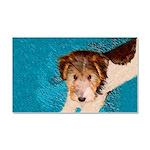 Wire Fox Terrier Puppy Car Magnet 20 x 12