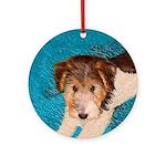 Wire Fox Terrier Puppy Round Ornament