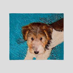Wire Fox Terrier Puppy Throw Blanket