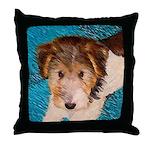 Wire Fox Terrier Puppy Throw Pillow