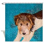 Wire Fox Terrier Puppy Shower Curtain