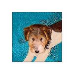 Wire Fox Terrier Puppy Square Sticker 3