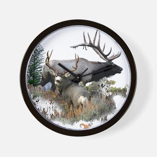 Big Game Hunter Wall Clock