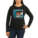 Wire Fox Terrier Women's Long Sleeve Dark T-Shirt