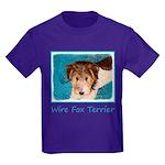 Wire Fox Terrier Puppy Kids Dark T-Shirt