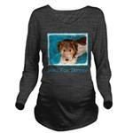 Wire Fox Terrier Pup Long Sleeve Maternity T-Shirt