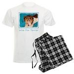Wire Fox Terrier Puppy Men's Light Pajamas