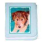Wire Fox Terrier Puppy baby blanket