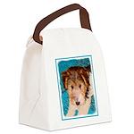Wire Fox Terrier Puppy Canvas Lunch Bag