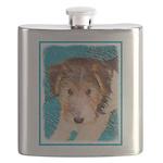 Wire Fox Terrier Puppy Flask