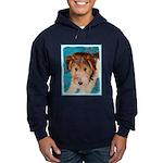 Wire Fox Terrier Puppy Hoodie (dark)