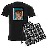 Wire Fox Terrier Puppy Men's Dark Pajamas