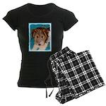 Wire Fox Terrier Puppy Women's Dark Pajamas