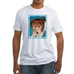 Wire Fox Terrier Puppy Fitted T-Shirt