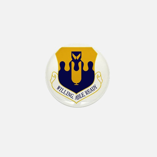 43rd Bomb Wing - Willing-Able-Ready Mini Button