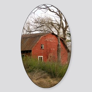 Old Barn Set Sticker (Oval)