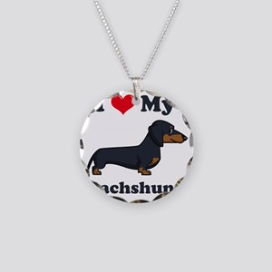 SS_I-Love-My-Dachshund-carto Necklace Circle Charm