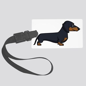 SS_Dachshund-by-Silver Large Luggage Tag