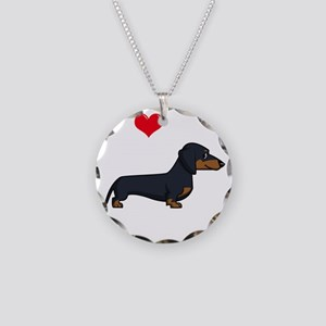 SS_I-Love-My-Weiner-cartoon- Necklace Circle Charm