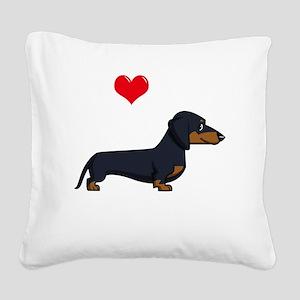 SS_I-Love-My-Weiner-cartoon-d Square Canvas Pillow