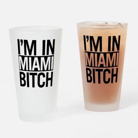miami-bitch Drinking Glass