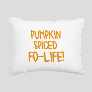Pumpkin Spiced For Life Rectangular Canvas Pillow