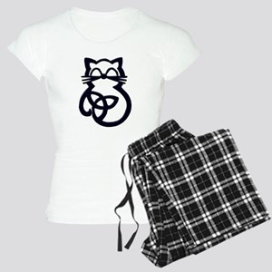 Black Trinity Knot Celtic Cat Pajamas