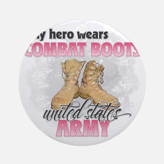 Combat boots Army Round Ornament