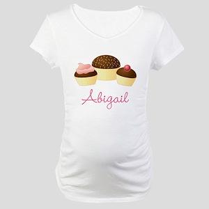 Personalized Chocolate Cupcake Maternity T-Shirt