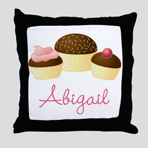 Personalized Chocolate Cupcake Throw Pillow