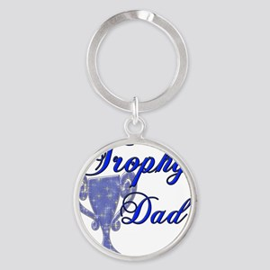 trophy dad copy Round Keychain