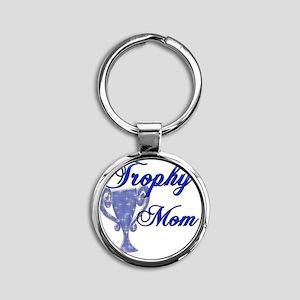 trophy mom Round Keychain