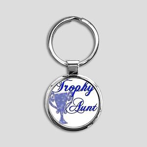 trophy aunt Round Keychain