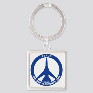 2-Peace The Old Fashioned Way - FB Square Keychain