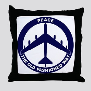 Peace The Old Fashioned Way - B-52G B Throw Pillow