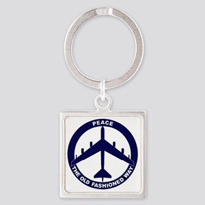Peace The Old Fashioned Way - B-52 Square Keychain