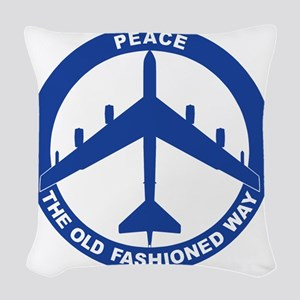2-Peace The Old Fashioned Way  Woven Throw Pillow
