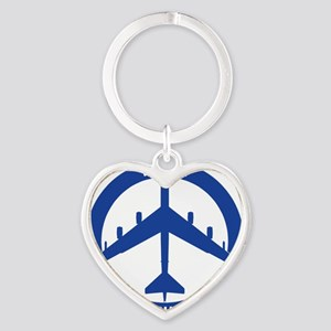 2-Peace The Old Fashioned Way - B-5 Heart Keychain