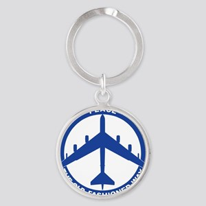 2-Peace The Old Fashioned Way - B-5 Round Keychain