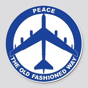 2-Peace The Old Fashioned Way - B Round Car Magnet