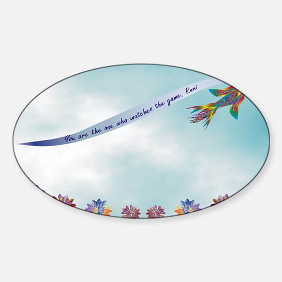 RUMI-BIRD-1 Sticker (Oval)