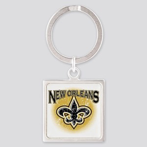 New Orleans Team Square Keychain
