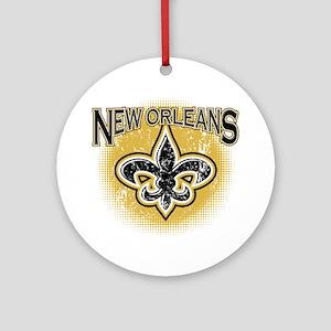 New Orleans Team Round Ornament