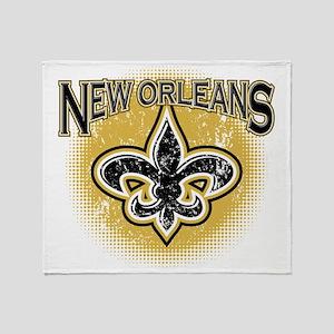 New Orleans Team Throw Blanket