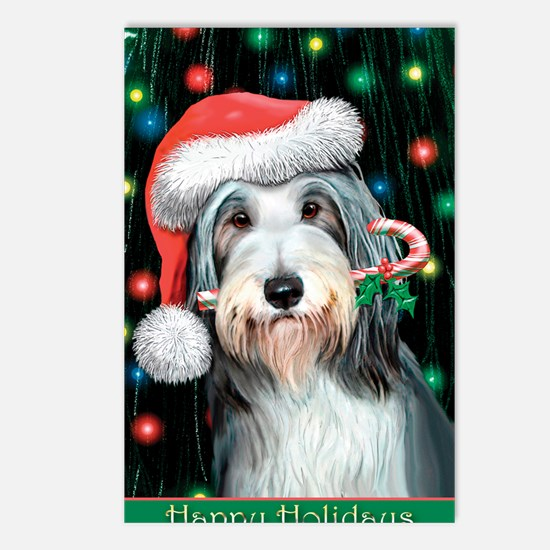 Bearded Collie-Happy Holi Postcards (Package of 8)