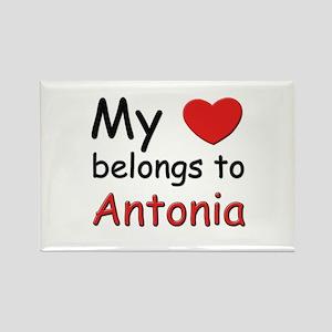My heart belongs to antonia Rectangle Magnet