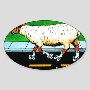 SHEEPSKATE mouse pad Sticker (Oval)
