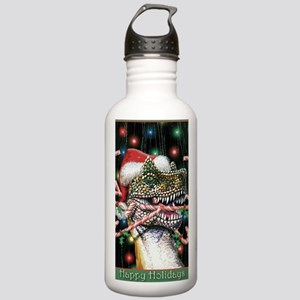 Happy Holidays Dinosau Stainless Water Bottle 1.0L