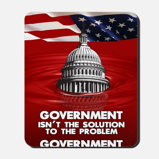 23x35 GOVERNEMNT IS THE PROBLEM 02 Mousepad