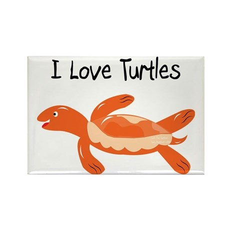 turk_turtle_orange Rectangle Magnet